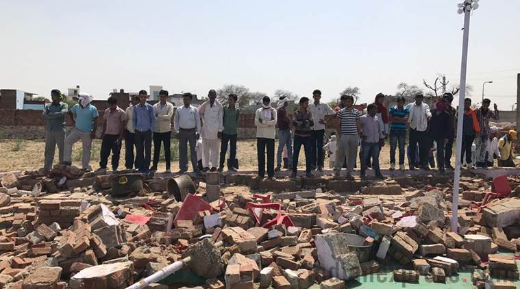 A happy wedding turned to tragedy in India after a wall collapsed onto the guests