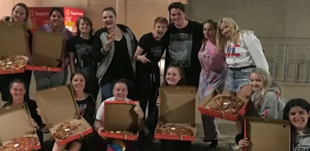 Ed Sheeran bought pizza for fans waiting overnight for his show