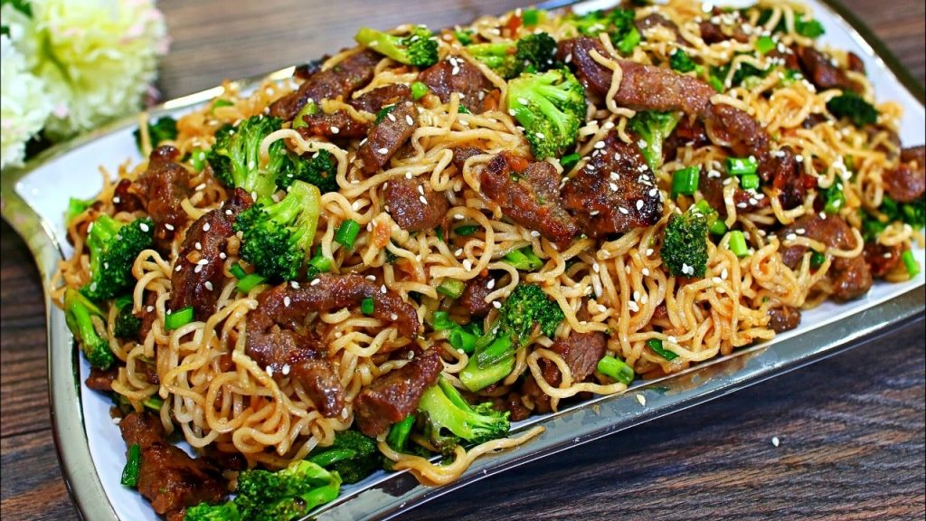 Garlic Beef and Broccoli Lo Mein — Perfect meal