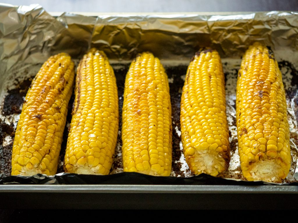 This most amazing oven roasted corn is outrageous!