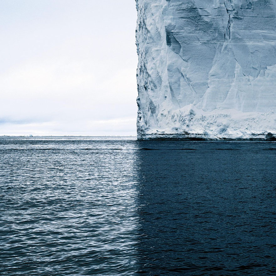 This Iceberg and Its Shadow Split the World into Quadrants