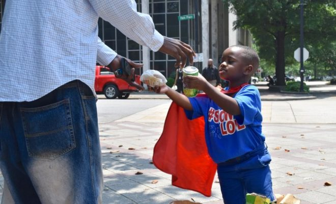 This four-year-old boy fights hunger and homelessness