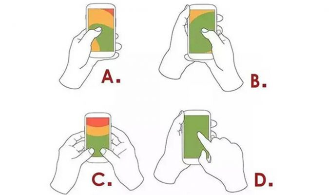 How You Hold Your Phone Says A Lot About You!