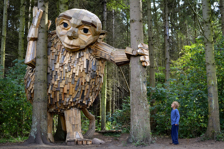 These Wooden Giants Are Hiding In The Wilderness Of Copenhagen