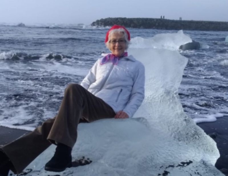 Grandma poses on iceberg, needs to be rescued as it floats out to sea