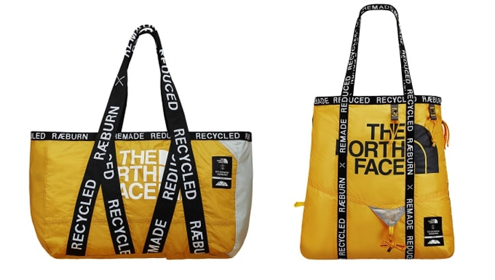 The North Face recycles old tents into new designer bag range